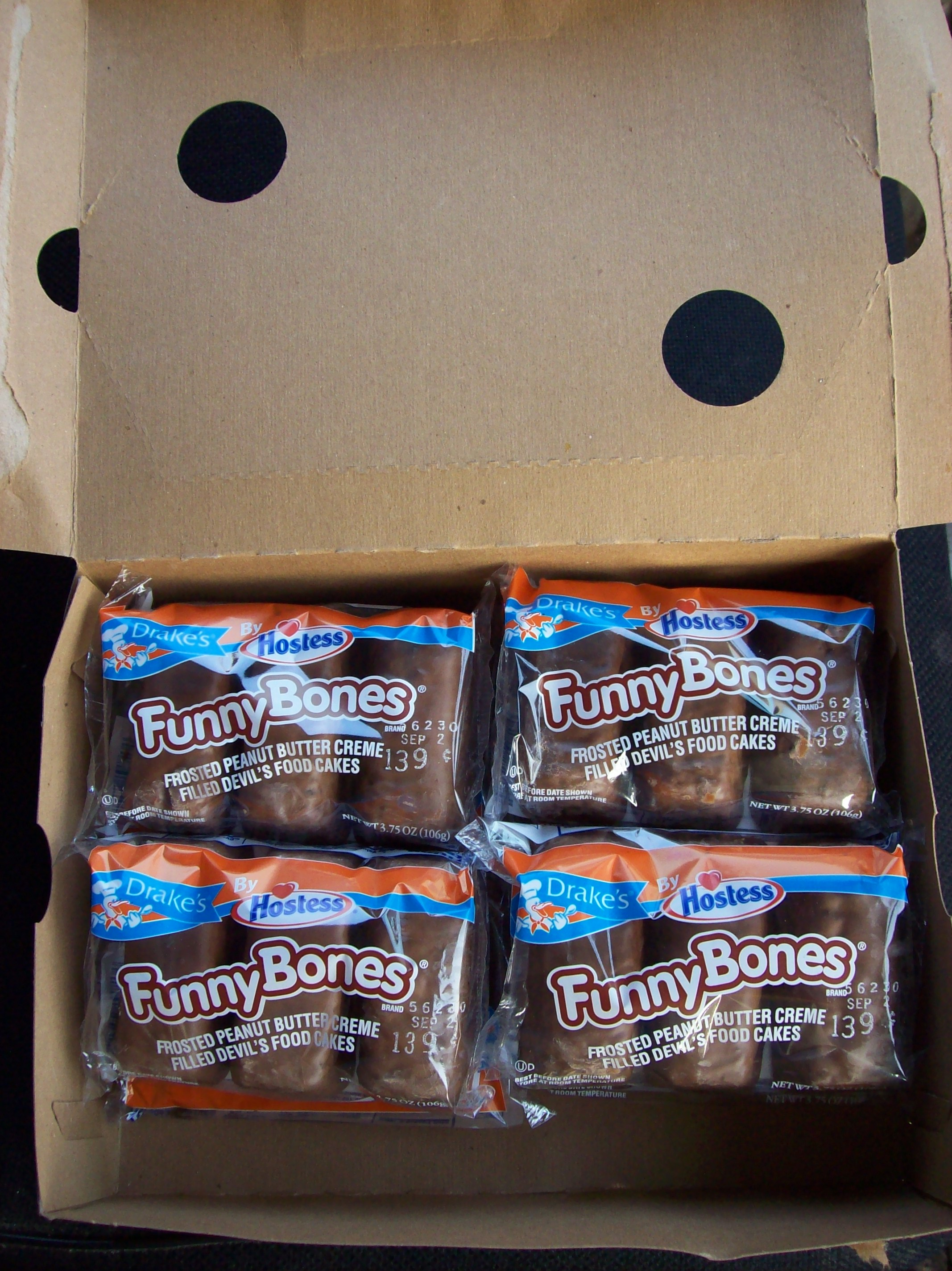 Funny Bones the big size box lots to eat